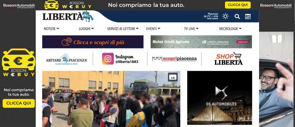 Restyling sito Web Libertà